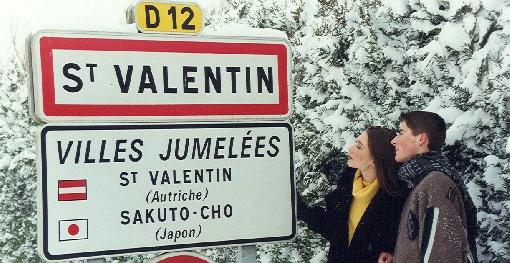 St valentine post sign
